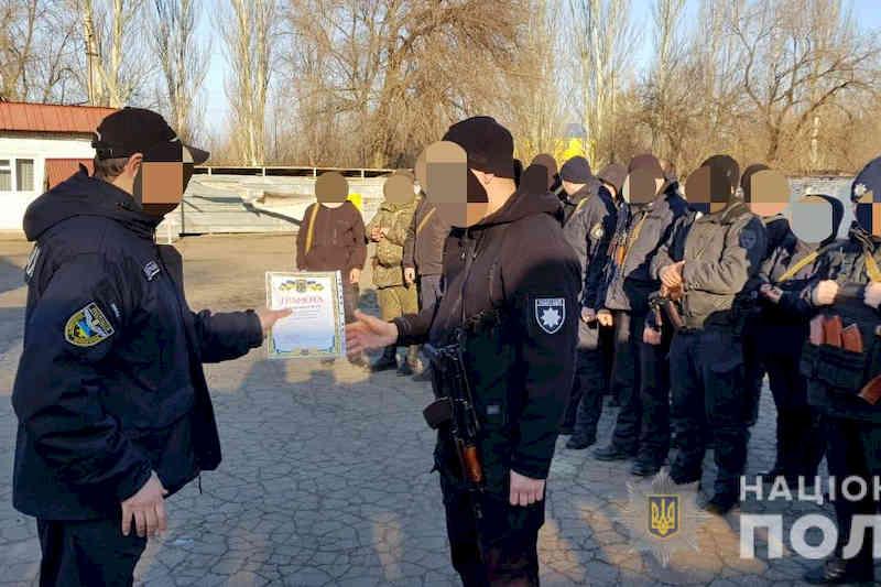 Полицейские Харьковщины отправились на ротацию в зону ООС